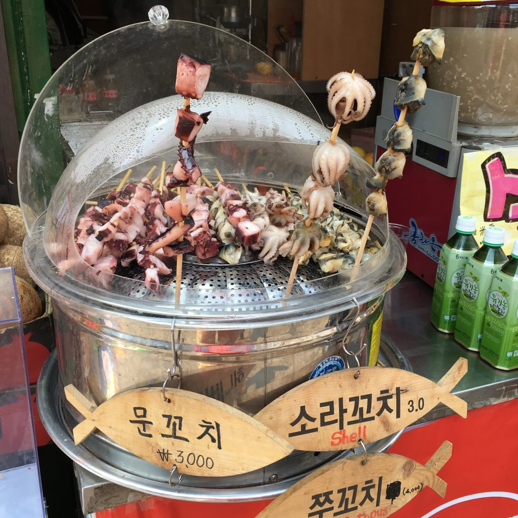street food coree du sud calamar