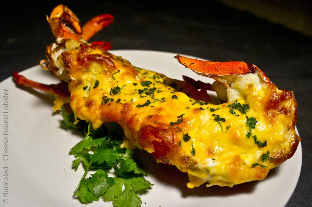 lobster and cheese tail homard grillé corée