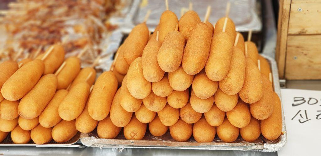 republic of korea hot dog stand street-food coreenne