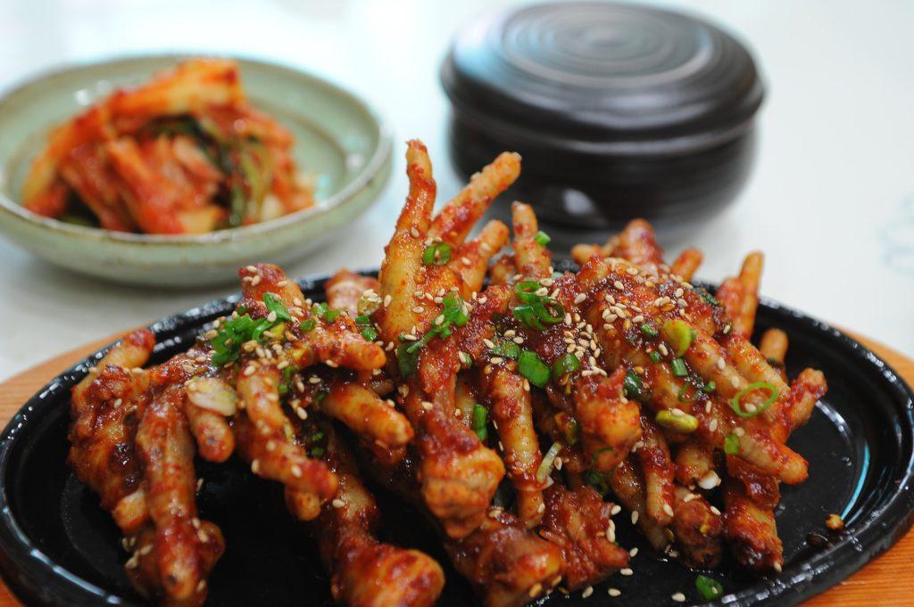dakbal pied poulet chicken feet nourriture street food coreenne insolite