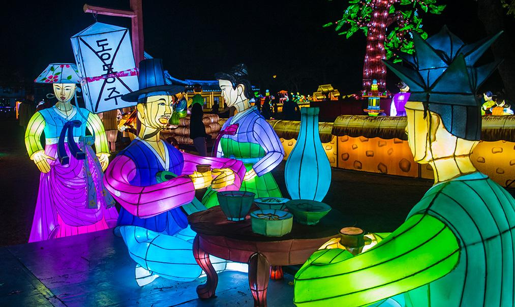 festivals d'automne en corée festival des lanternes namgang yudeung jinju