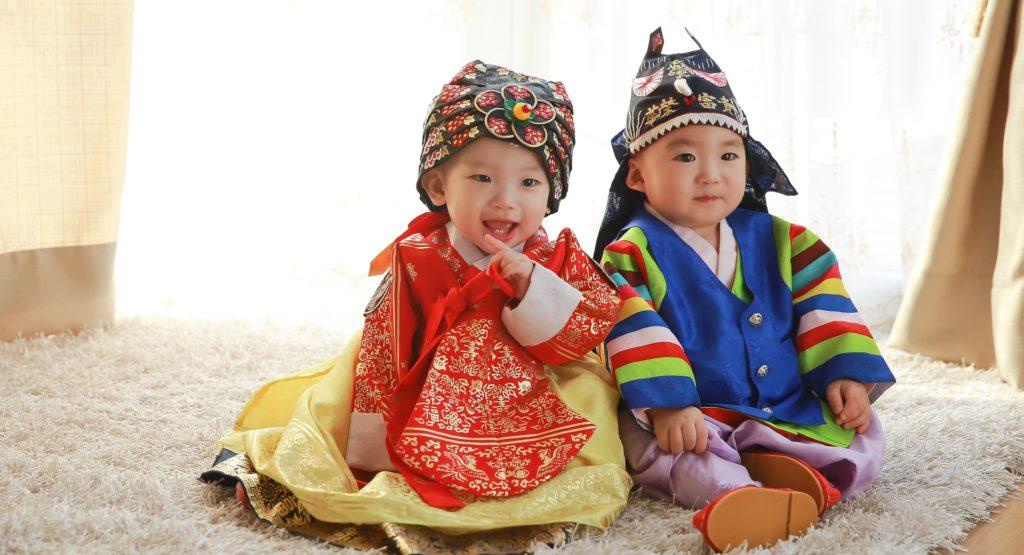 hanbok costume traditionnel fete chuseok