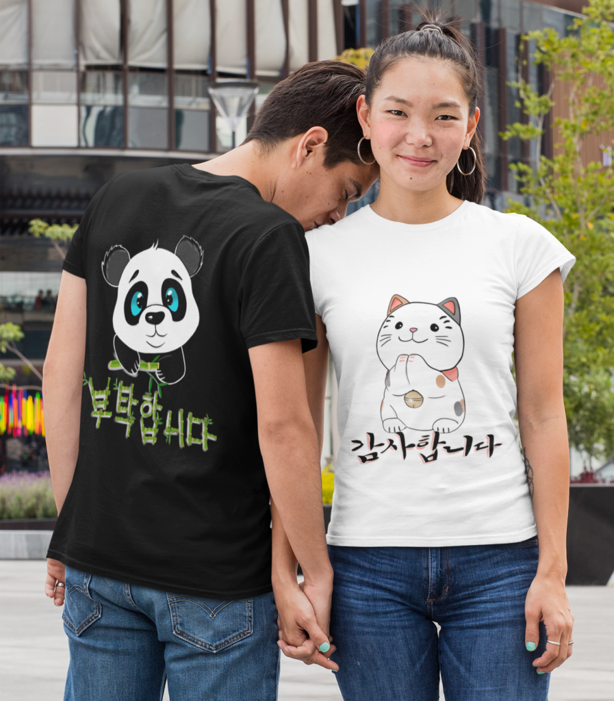 tee-shirt-chat-mignon-coreen-maneki-neko
