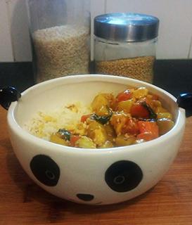 curry coréen riz nourriture coréenne bol panda mignon 123 South Korea