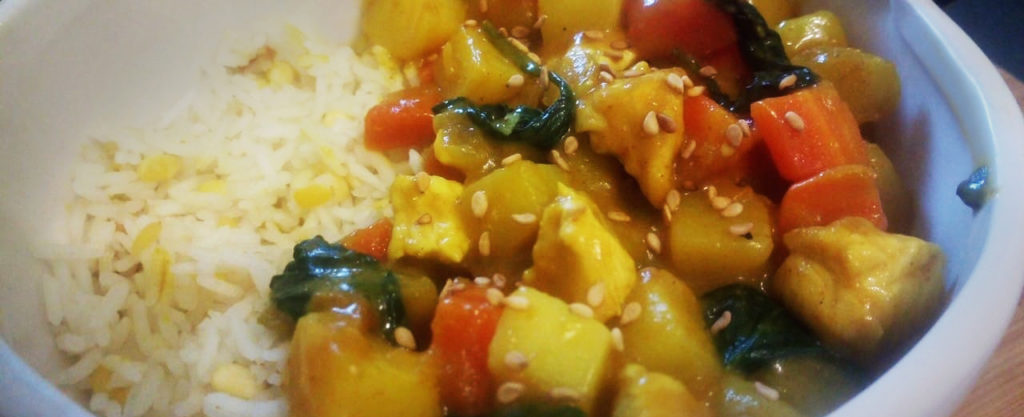 curry jaune riz