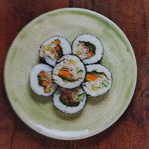 kimbap version coréenne maki japonais thon rouleau de riz