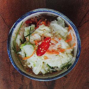 livre de recettes coréennes fabrication kimchi doux baekkimchi