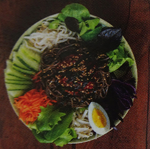 nouilles sarrasin coréenne légumes vermicelles de riz bobun