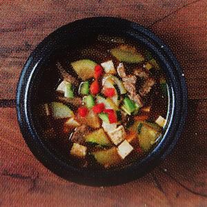 ragoût coréen pate de soja fermentée et boeuf mijoté livre de cuisine piquant pas piquant