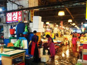 Le plus grand marché de poissons à Séoul : Noryangjin Market