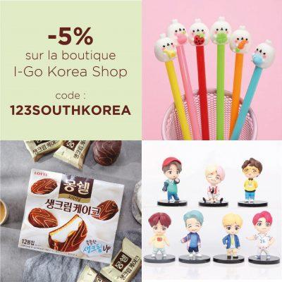 code promotionnel boutique coreenne en ligne igo korea shop